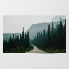 Road trip to the mountains Rug