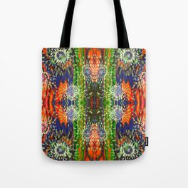 Induced Cosmic Revelations (Four Dreams, In Mutating Cycle) (Reflection) Tote Bag