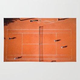 Tennis court orange Rug