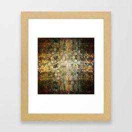 """Abstract golden river pebbles"" Framed Art Print"