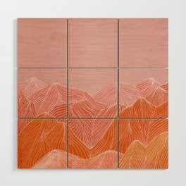 Lines in the mountains - pink II Wood Wall Art
