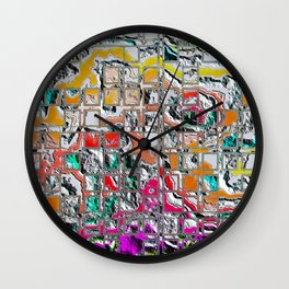 Eroded Grid 1 A Wall Clock