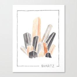 watercolor quartz Canvas Print