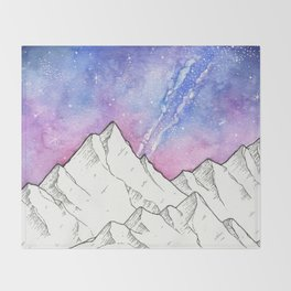 Mountains in the Evening Throw Blanket