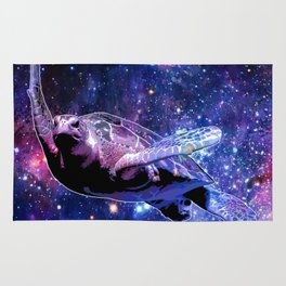 A Sea Turtle's Dream In Space Rug