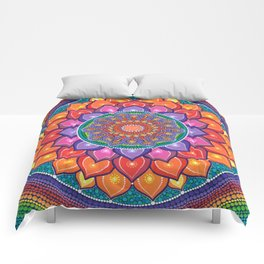 Lotus Rainbow Mandala Comforters