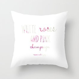 Pink Champaign Throw Pillow