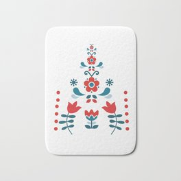 Retro Nordic Folk Bath Mat