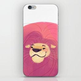 Pink Lion iPhone Skin