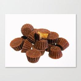 Mini Chocolate and Peanut Butter Treats Canvas Print