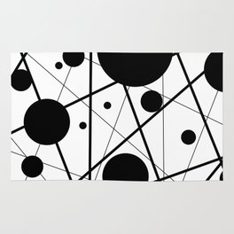 Abstract Lines and Dots Rug