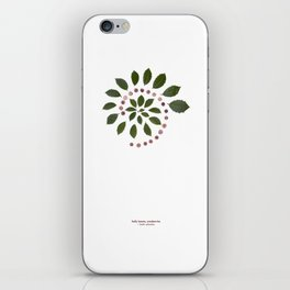 nature mandala... holly leaves, cranberries iPhone Skin