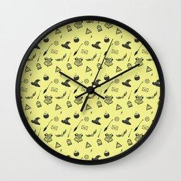 Hufflepuff Pattern Wall Clock