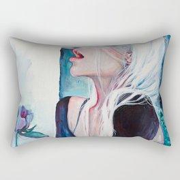 In Her Garden Rectangular Pillow