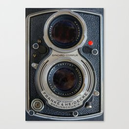 Close Up of Vintage Film Camera Canvas Print