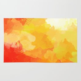 Colorful Abstract - red orange pattern Rug