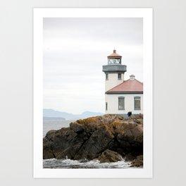 San Juan Island Lighthouse Art Print