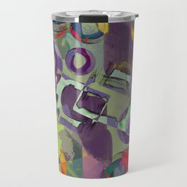 Living In A Purple Dream - Abstract, eclectic, random, purple. lilac, pastel artwork Travel Mug