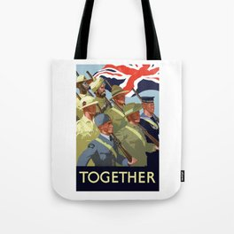 Together -- British Empire WW2 Tote Bag