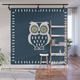 Bright Eyed Owl Wall Mural