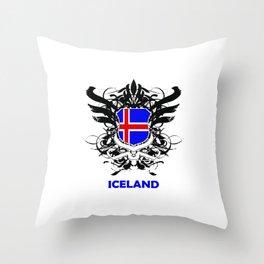 Iceland Uefa Euro 2016 Throw Pillow