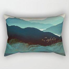 Indigo Mountains Rectangular Pillow