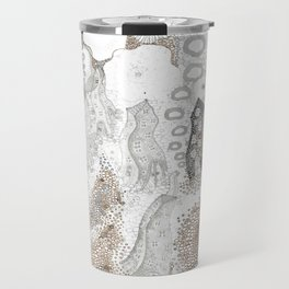 """Gray"" illustration Travel Mug"