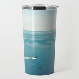 """Travel photography print """"Blue blue ocean"""" photo art made in the south of italy Travel Mug"""