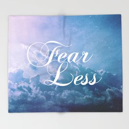 Fearless in a beautiful cloudy sky Throw Blanket