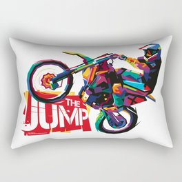 Motocross The Jump WPAP Rectangular Pillow
