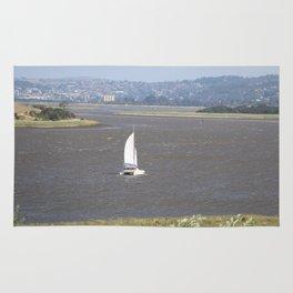 *Sailing into Launceston Tasmania* Rug