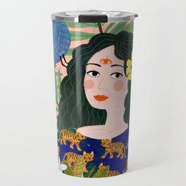 Boho Lady Travel Mug