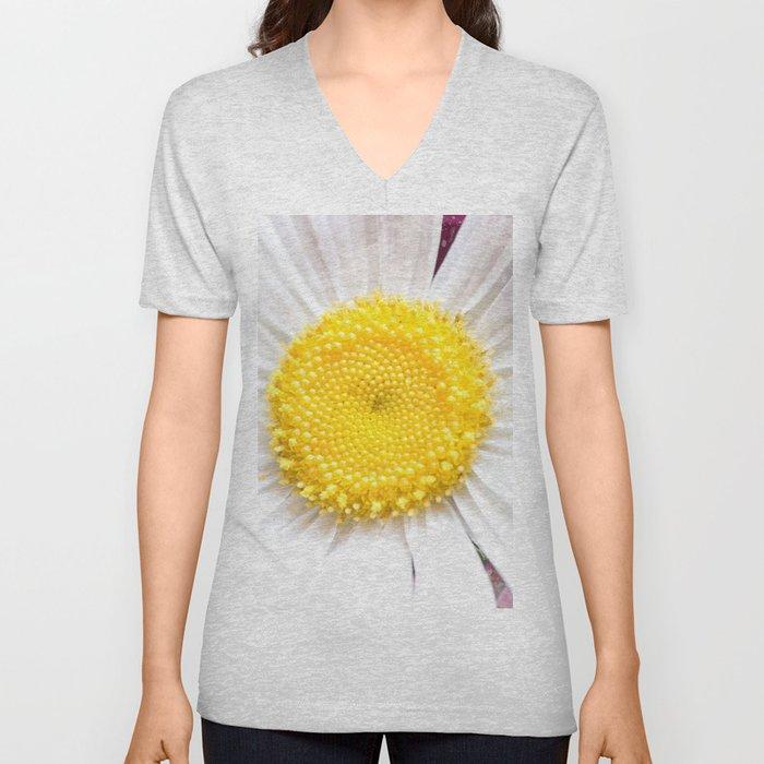 Daisy Flower Close-Up #1 #art #society6 Unisex V-Neck