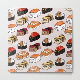 Sushi Persian Cat Metal Print