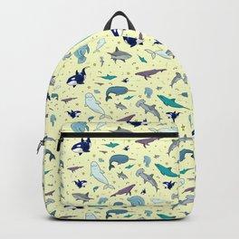 Ocean Life Pattern Backpack