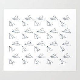 Papar airplane Art Print