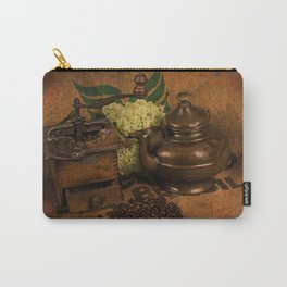 Vintage coffee grinder and pot Carry-All Pouch