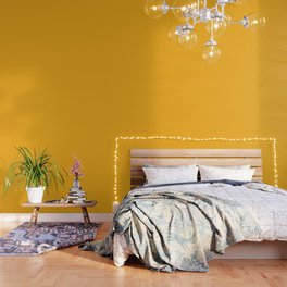 Solid Bright Beer Yellow Orange Color Wallpaper