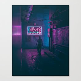 Shenzhen Noir Canvas Print