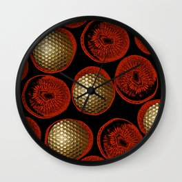 RED, BLACK & GOLD Wall Clock