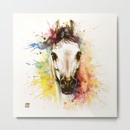 """""""Into the mirror"""" n°2 The horse Metal Print"""