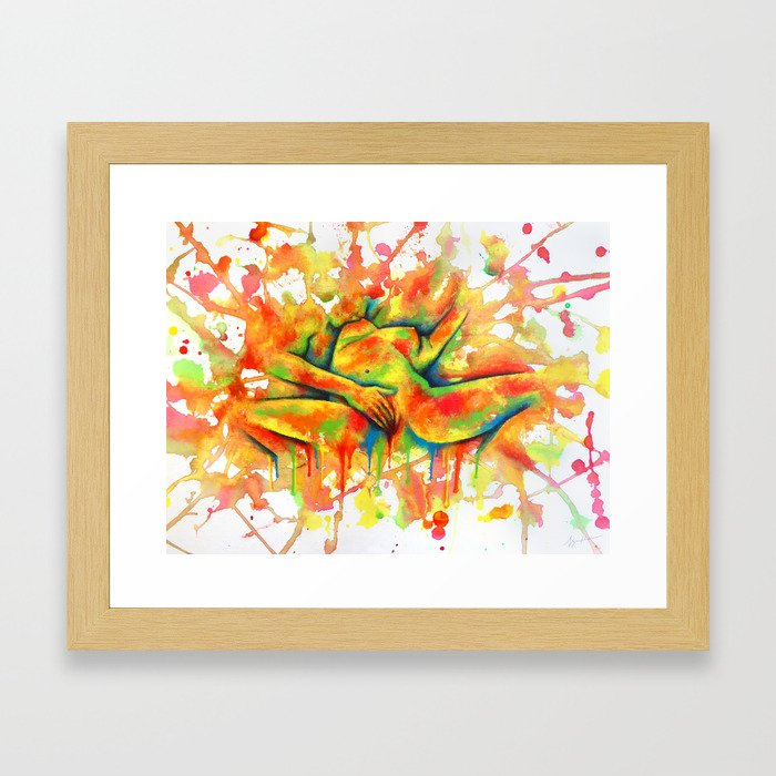 Colorful Climax Framed Art Print