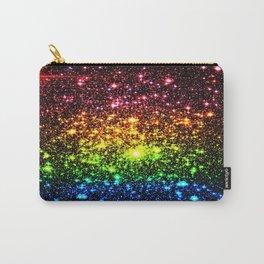 Rainbow Sparkle Galaxy Stars Carry-All Pouch