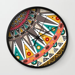 #Ethnic #tribal ornament Wall Clock