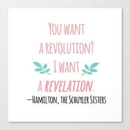 THE SCHUYLER SISTERS   HAMILTON Canvas Print