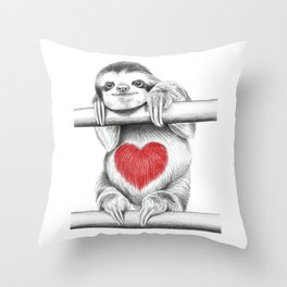 If Care Bears were sloths... Throw Pillow