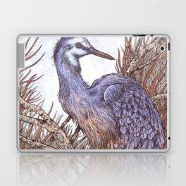 White Faced Heron Laptop & iPad Skin