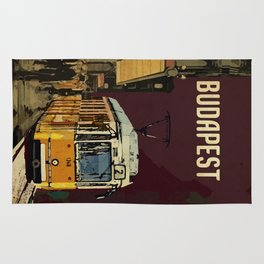 Retro Tram 2 in Budapest Rug