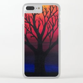 3 Visions Art Sun Tree Clear iPhone Case