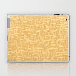 Woven Burlap Texture Seamless Vector Pattern Yellow Laptop & iPad Skin